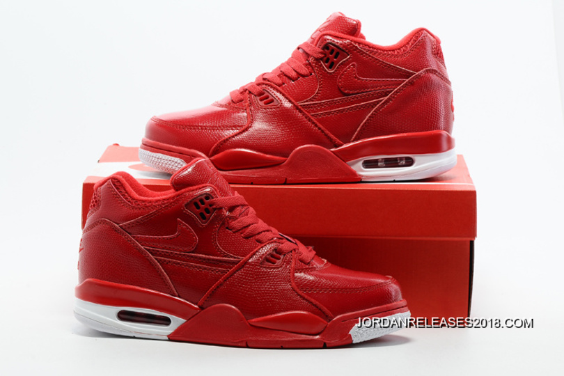 7d456a7096b Nike Air Flight  89 Red Leather Basketball Shoes 2018 Best