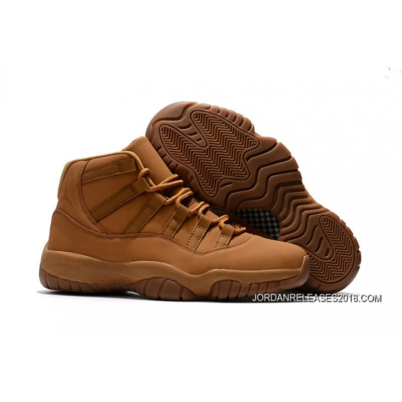Air Jordan 11 Wheat GingerGum Yellow 2018 Free Shipping