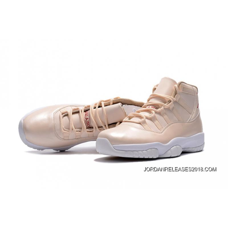 "2be3de0587d053 ... 2018 New Style Air Jordan 11 ""Maroon"" Beige White ..."