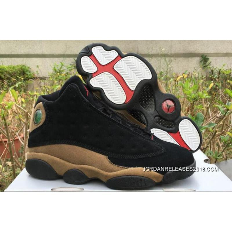 """low cost 2aa8c 34d59 Air Jordan 13 """"Olive Suede"""" Black Gym Red-Light Olive 2018 Best ..."""