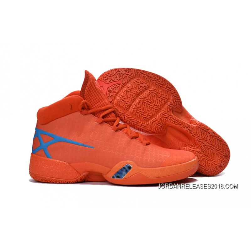 buy online b6ec7 63207 2018 Best New Air Jordan 30 XXX Playoffs Orange Blue PE ...