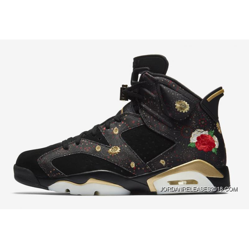 "5bcdbcd3ad66 2018 New Release Air Jordan 6 ""CNY"" Black Multi-Color Summit White ..."