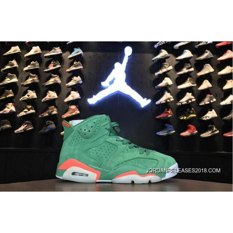 "edf0efcb3664 2018 Best Air Jordan 6 ""Gatorade"" Green Team Orange-Summit White ..."