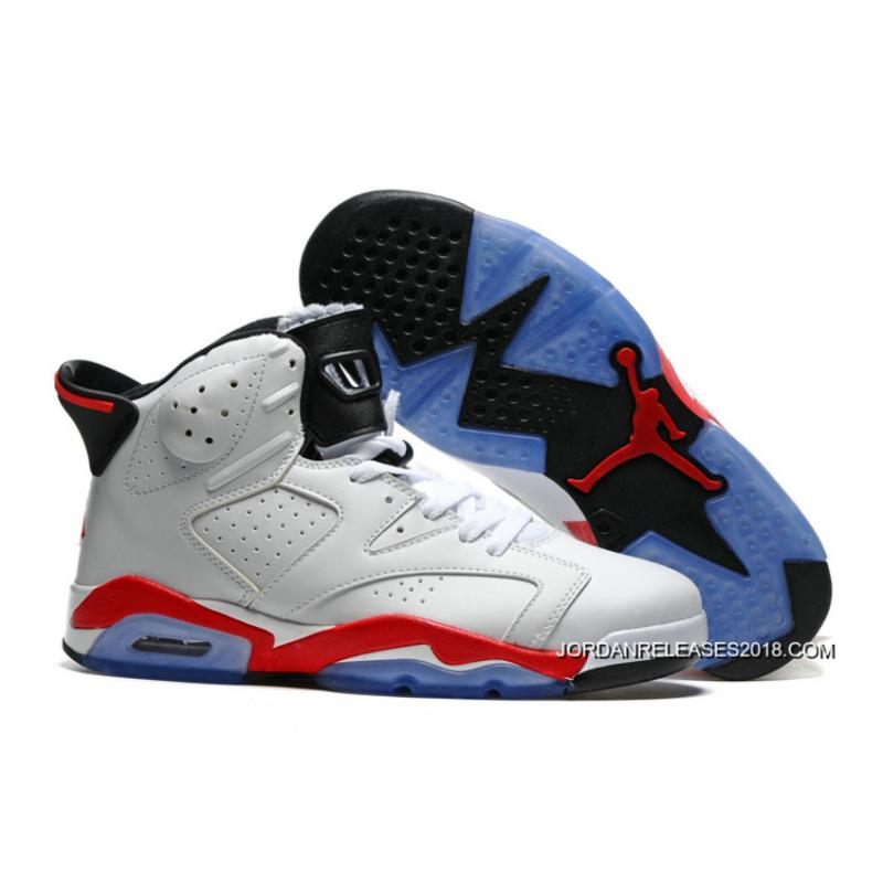 "19e49036c93f3a Outlet Air Jordan 6 ""White Infrared"" White Infrared-Black ..."