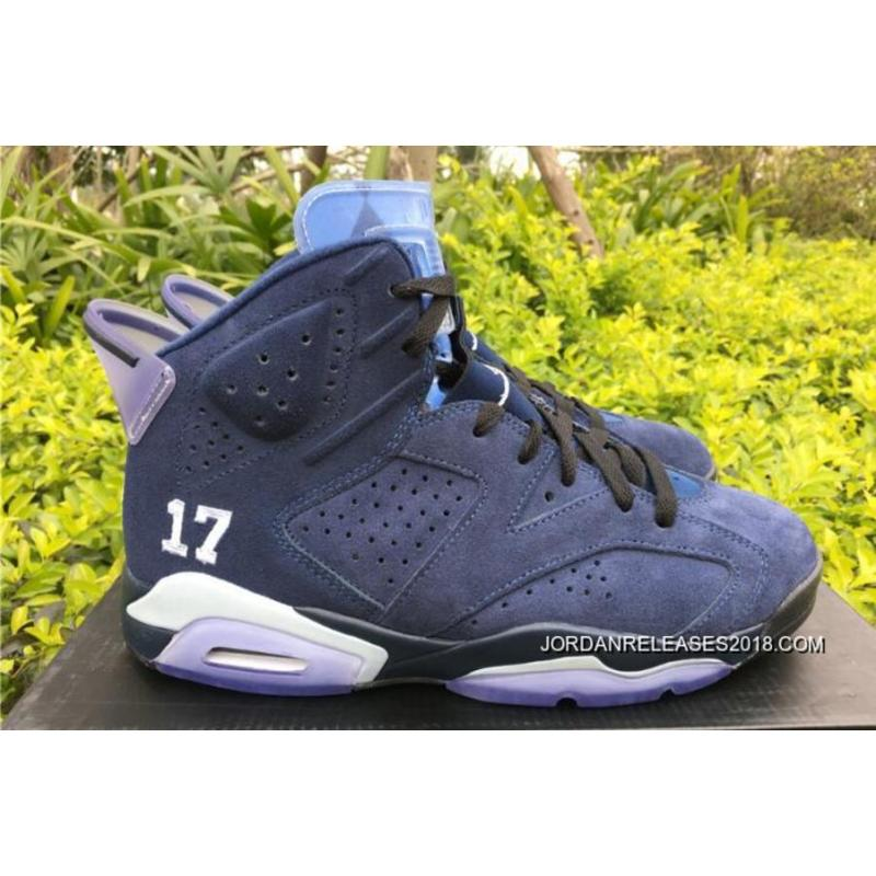 "e0f7149f452 Latest Air Jordan 6 ""UNC Championship"" PE University Blue/White ..."