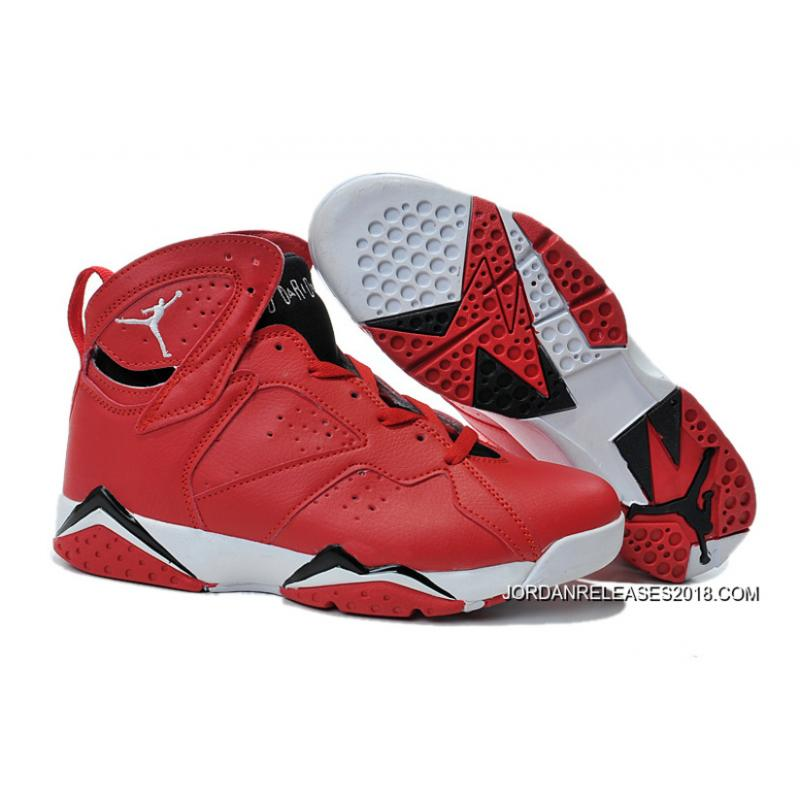 78a1e35793aeda New Air Jordan 7 Red Black White Shoes 2018 New Style ...