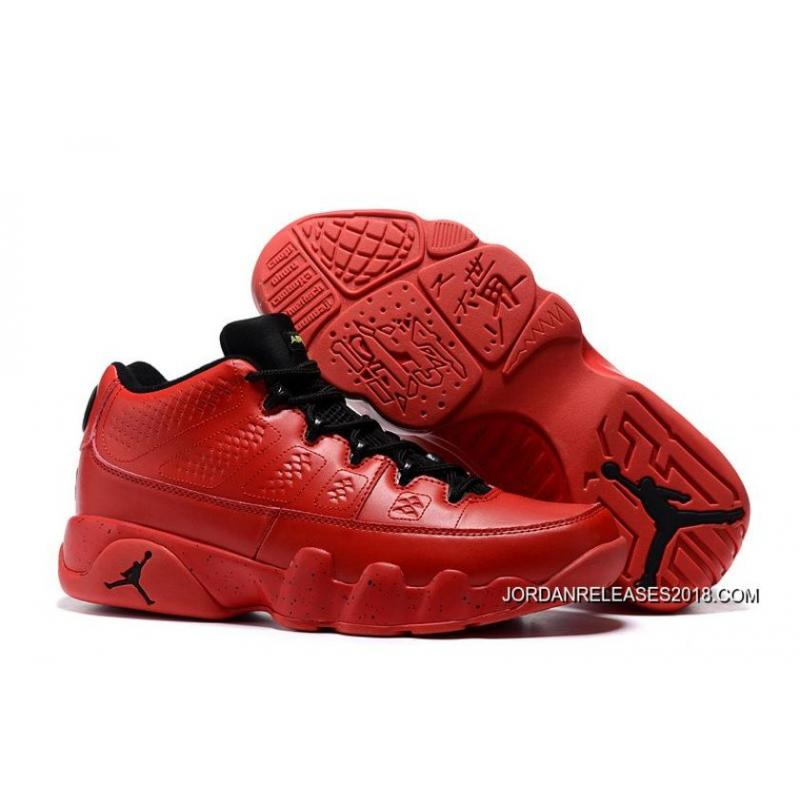 """Air Jordan 9 Low """"Infrared"""" Black/Bright Red New Year Deals ..."""