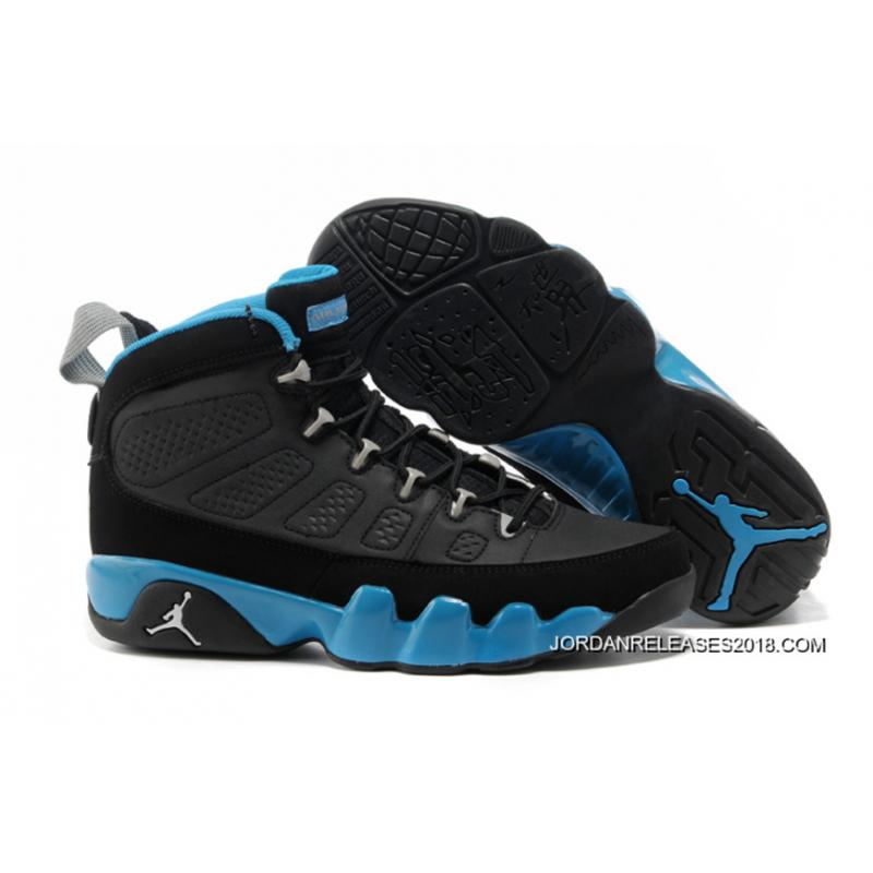 the latest 63099 d9f39 New Air Jordan 9 Black Matte Silver-University Blue 2018 Outlet ...