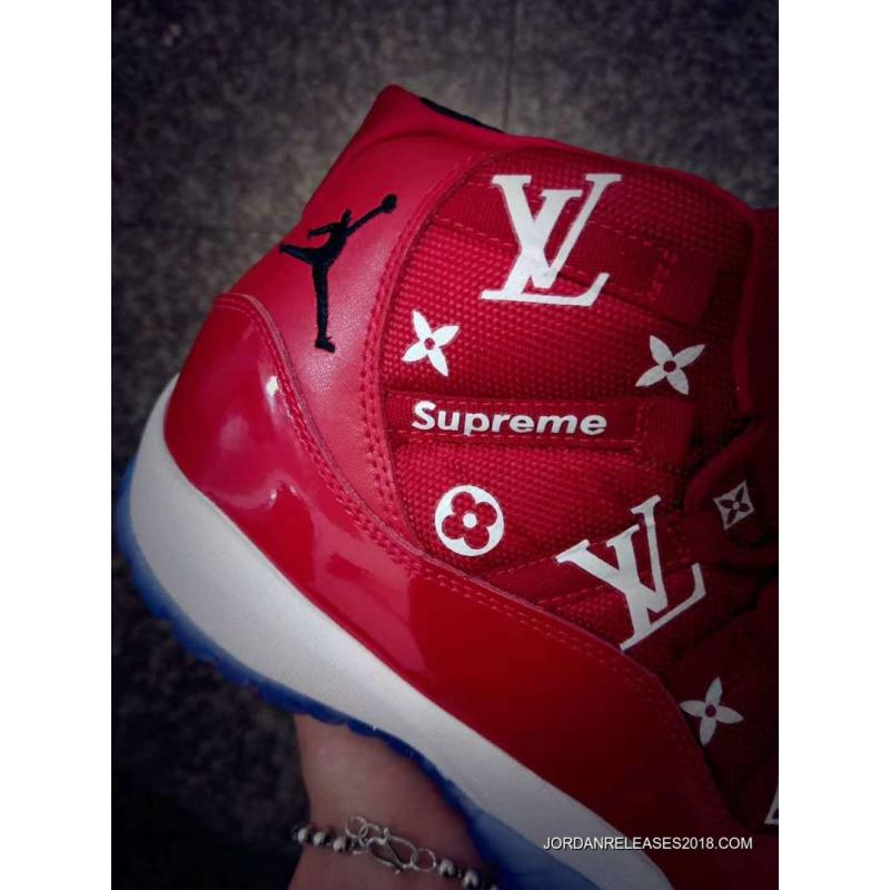 "a47b8a2d995 Custom Mens And Womens Air Jordan 11 ""Supreme"" Gym Red Best, Price ..."