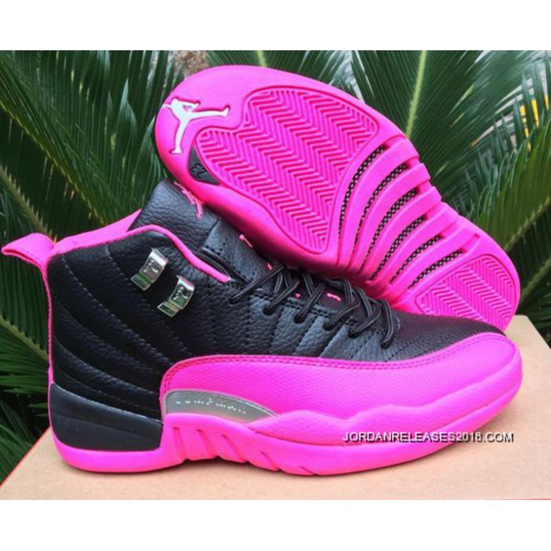 competitive price 67c0a c32a4 ... usa 2018 online air jordan 12 gs black pink shoes 037a8 39456