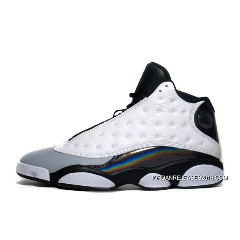 "a83b051fe ... 2018 Online New Air Jordan 13 Retro ""Barons"" Tropical Teal Black-Wolf  Grey ..."