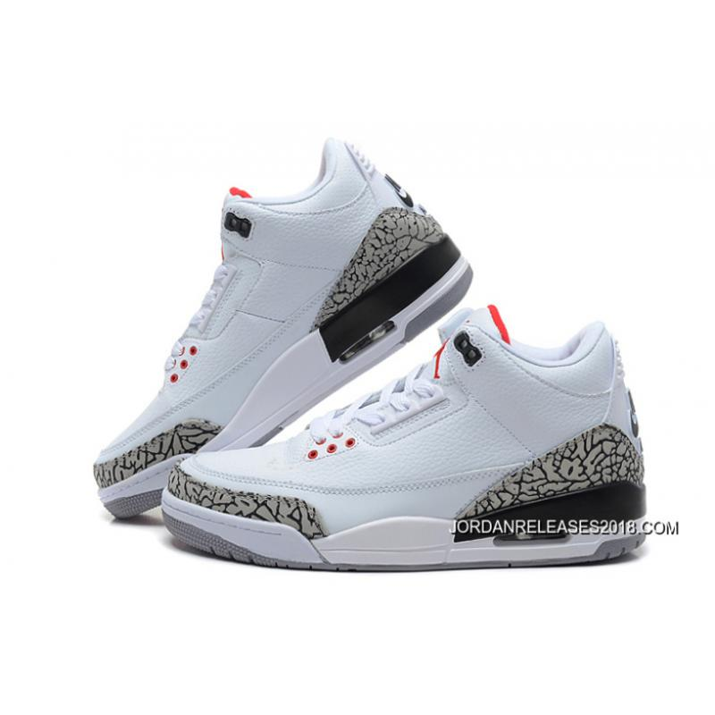 e4b4c9357570 New Air Jordan 3 Retro  88 White Fire Red-Cement Grey-Black 2018 New ...