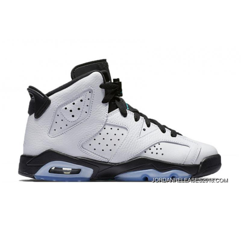 "84001bf356b442 2018 Best Air Jordan 6 GS ""Hyper Jade"" ..."
