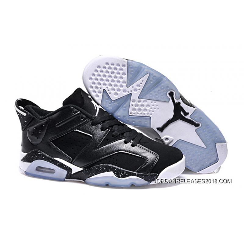 "97278a68e8473d New Air Jordan 6 Low GS ""Black Oreo"" 2018 Latest ..."