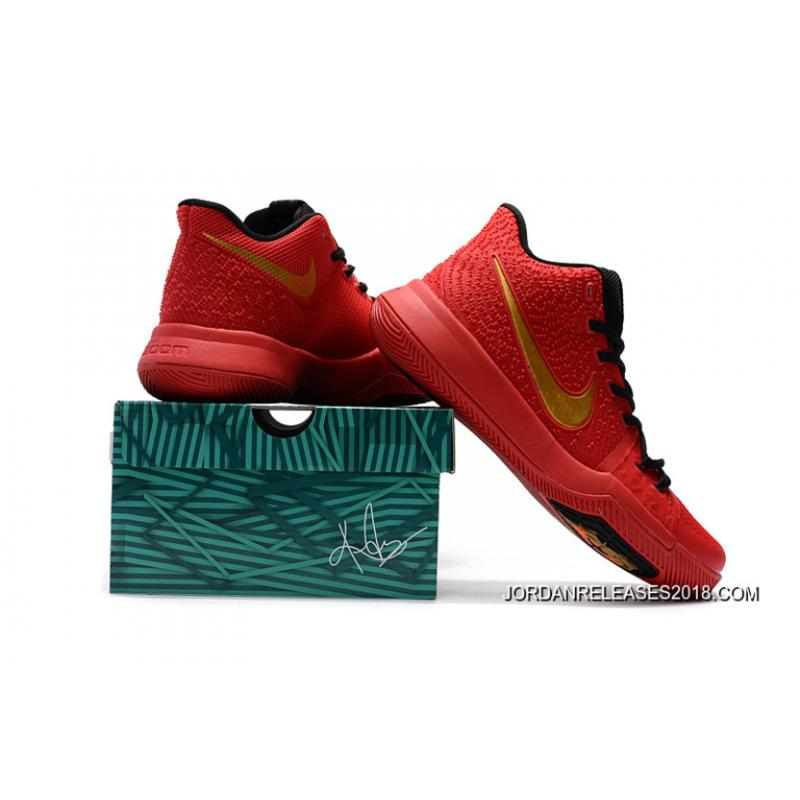 ... Girls Nike Kyrie 3 Red Black Gold 2018 Outlet