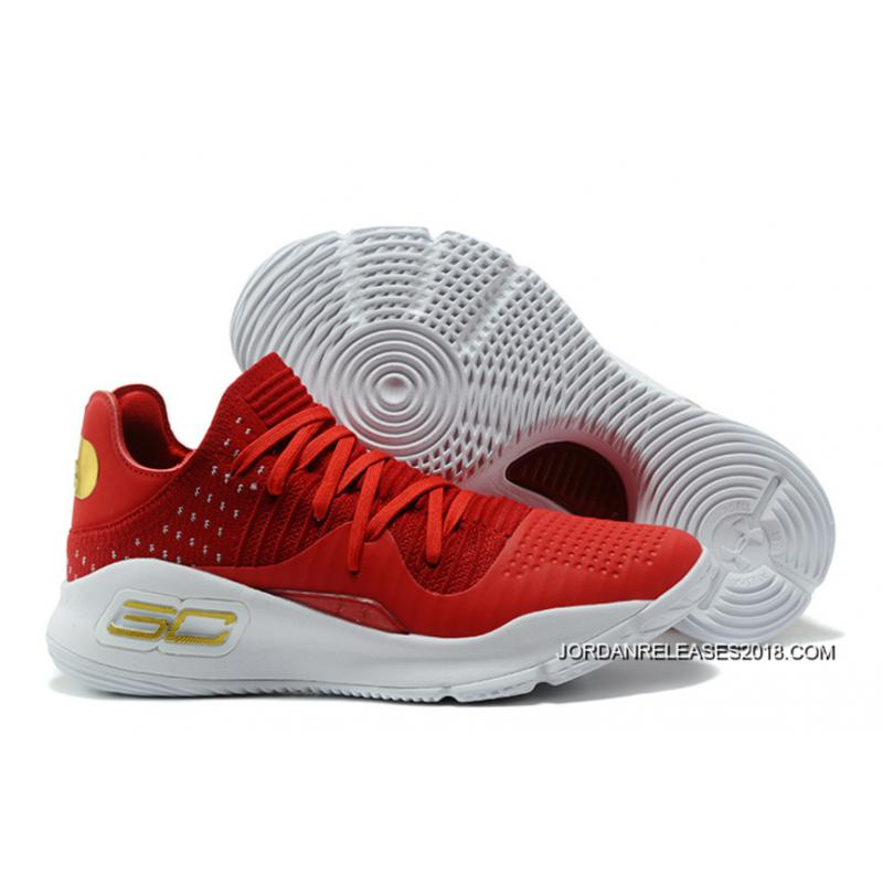 Under Armour Curry 4 Low Orange Wine Red New Style Extkt2