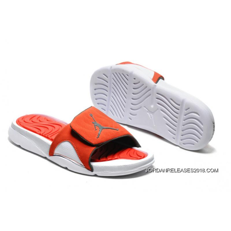 2018 Air Jordan Hydro 4 Retro Slide Black Orange White New Year Deals