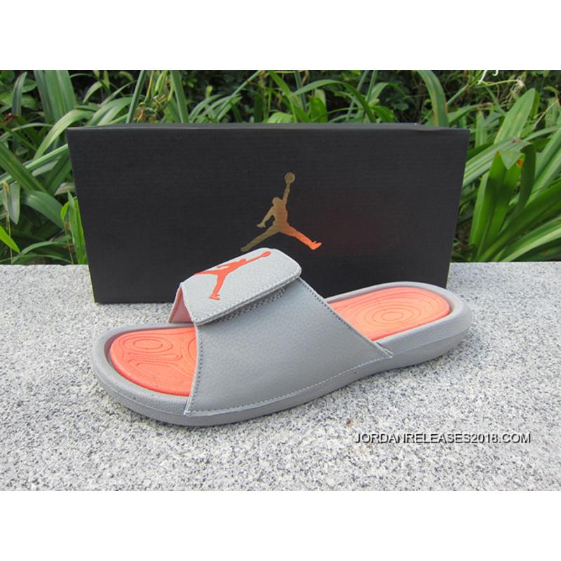 dc8e6542464213 Air Jordan Hydro 6 Sandals Grey Orange New Release ...