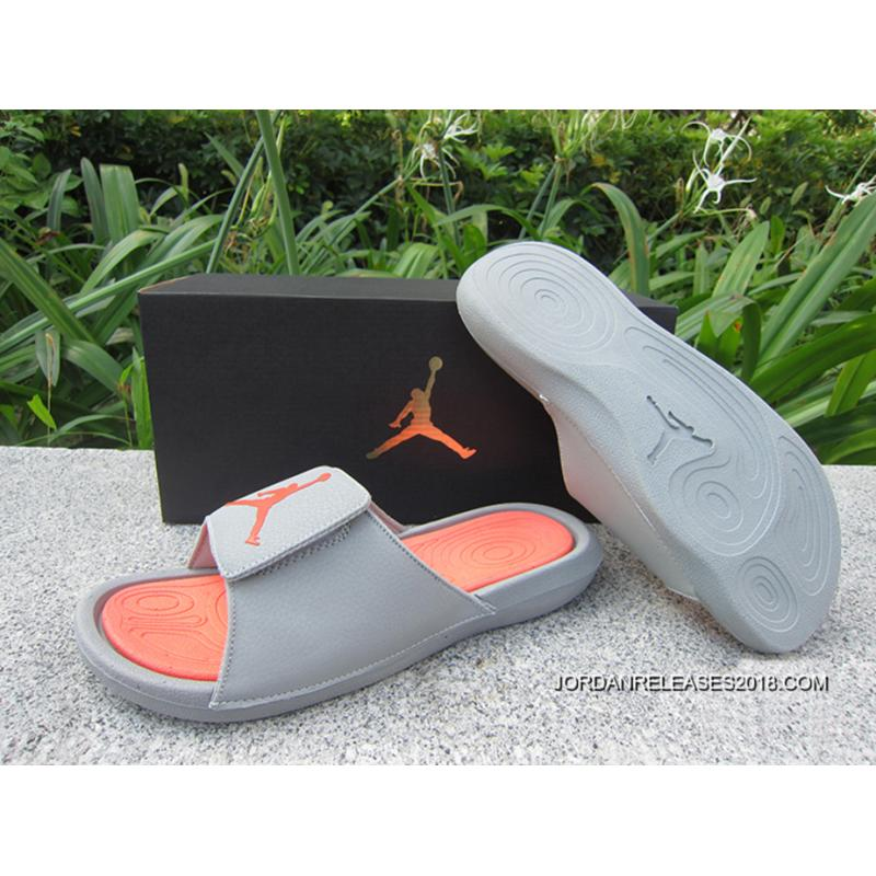 2018 Men Air Jordan Hydro 6 Sandals Grey Orange