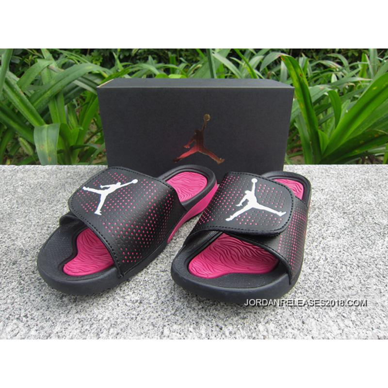f6353901b71177 WMNS Jordan Hydro V Retro Sandals Black Pink White Outlet ...
