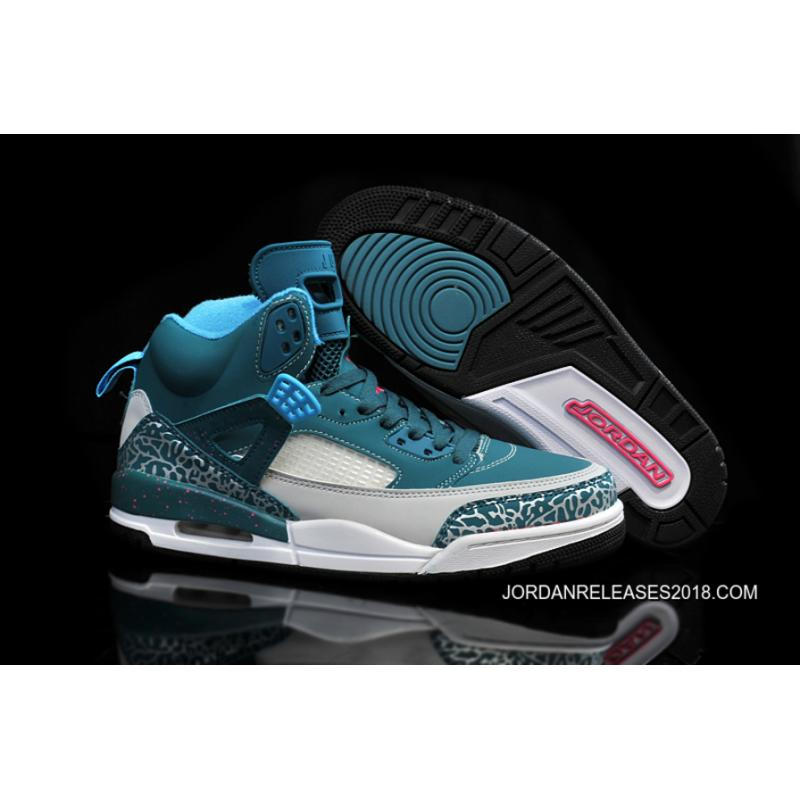 new products 81131 2fd7e 2018 Outlet New Jordan Spizike Space Blue Wolf Grey-Tropical Teal-Fusion  Pink ...