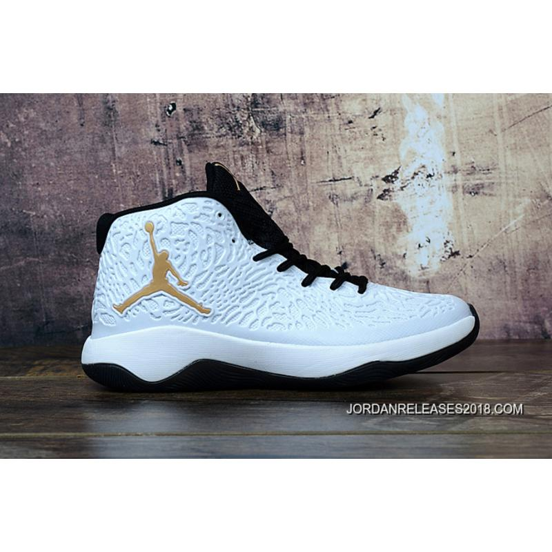 b715fe8dbcdb ... 2018 For Sale Jordan Ultra Fly Jimmy Butler White Metallic Gold .