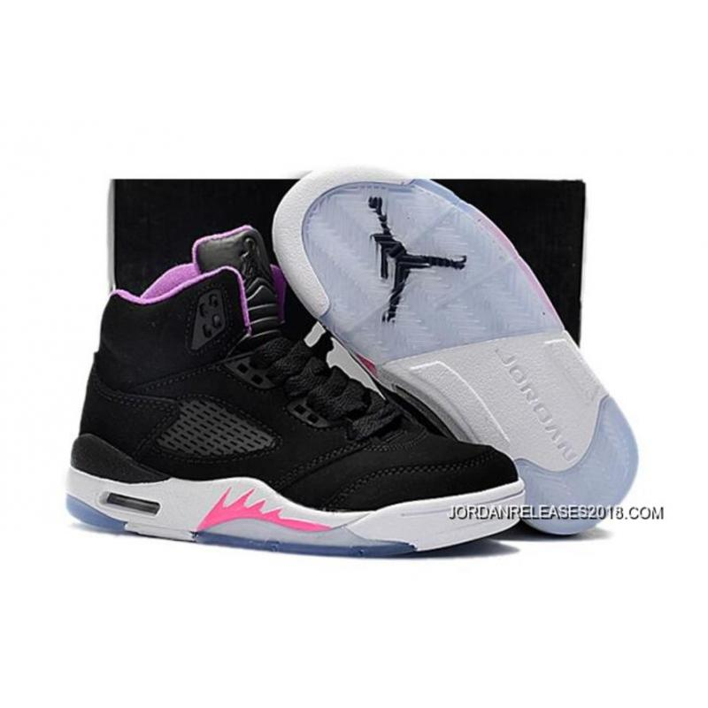 2018 Air Jordan 5 Gs BlackPurple Deadly PinkWhite Copuon