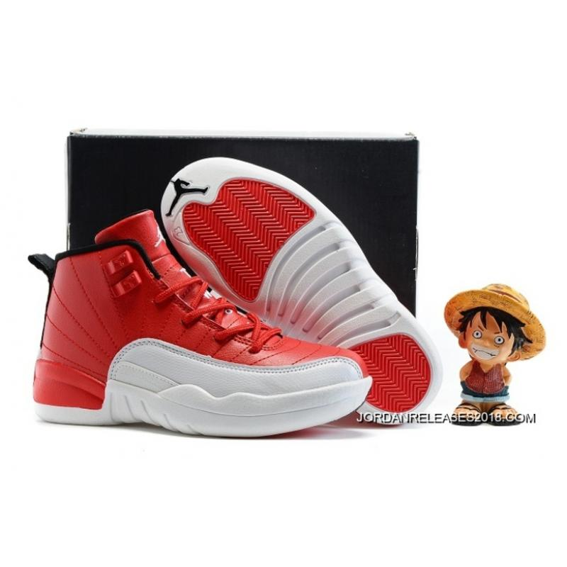 """buy online a04ae 4be11 Kids Air Jordan 12 """"Gym Red"""" 2018 New Style"""