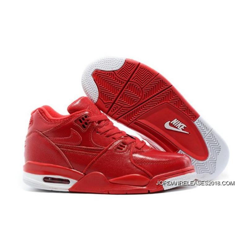 15539b89921 Nike Air Flight  89 Red Leather Basketball Shoes 2018 Best ...