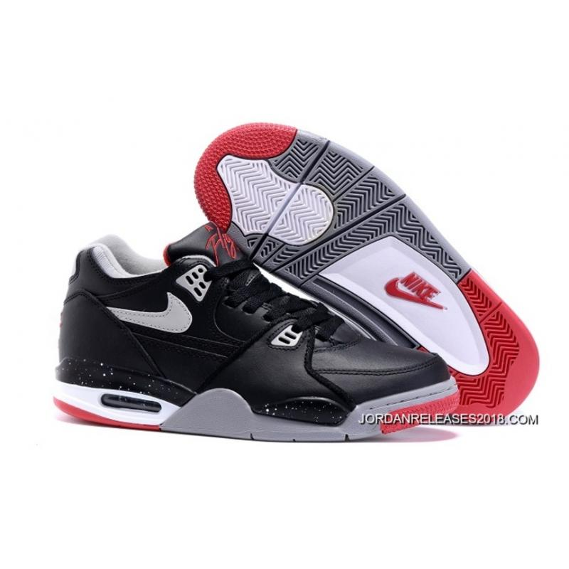 "2018 New Style Nike Air Flight '89 ""Bred"" Black/Cement Grey- ..."