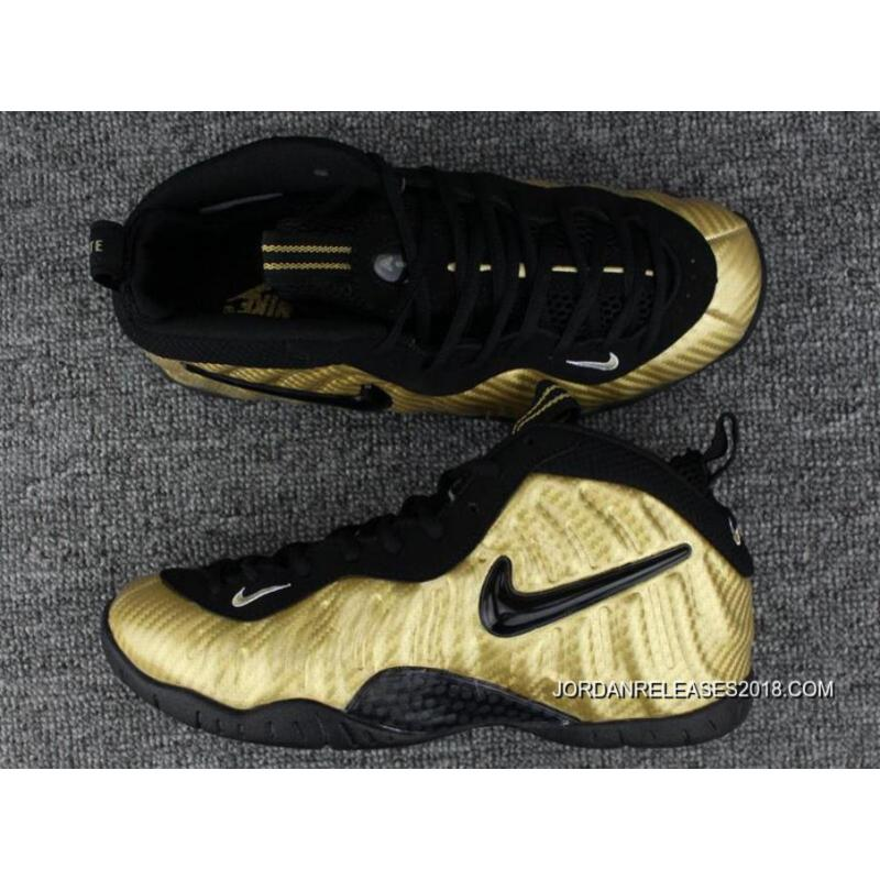 quality design b549b f64c1 2018 Latest Nike Air Foamposite Pro Metallic Gold/Black-White