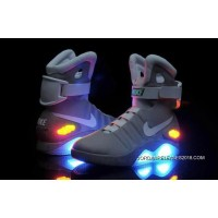 hot sale online 9bafd 435ef 2018 Copuon Nike Air Mag Back To The Future II Marty McFly Grey
