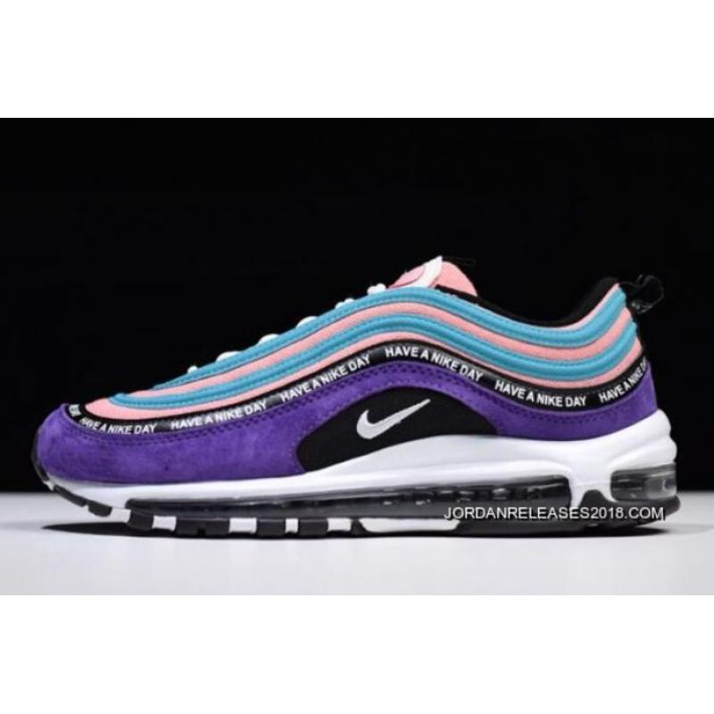 "super popular 90613 3ff7f Women Men Nike Air Max 97 ""Have A Nike Day"" Purple Green Pink ..."