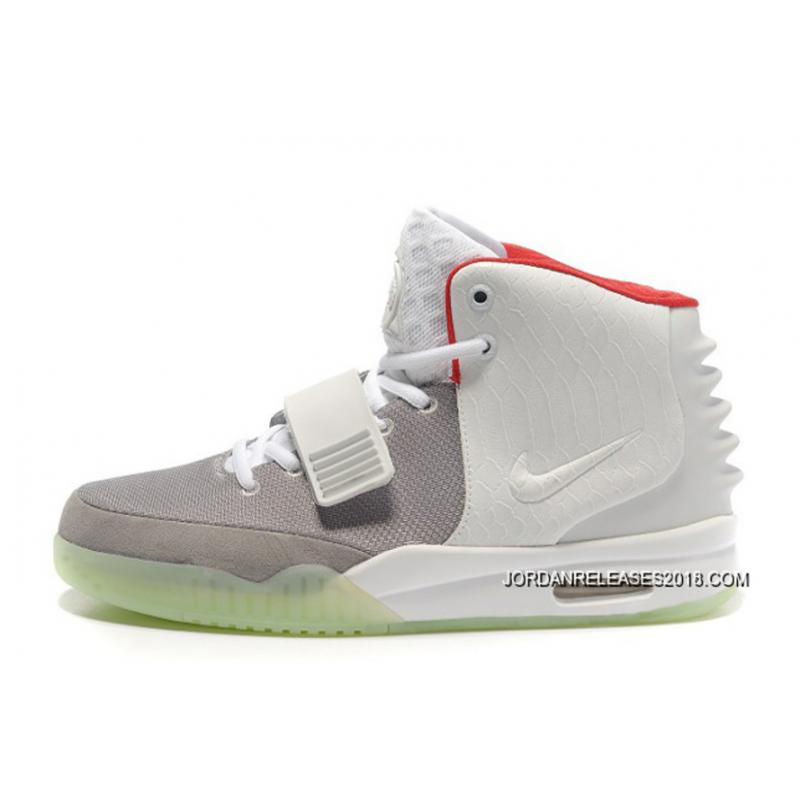 Nike Air Yeezy 2 Wolf Grey/Pure Platinum Glow In The Dark 2018 Outlet ...
