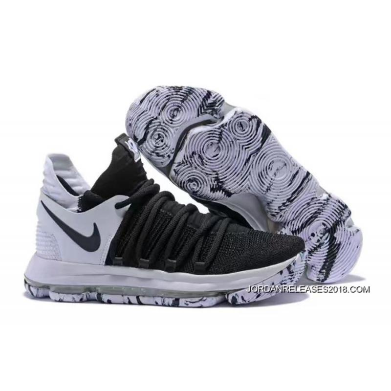 best service ae431 ba18d 2018 Top Deals Nike KD 10 Black And White ...