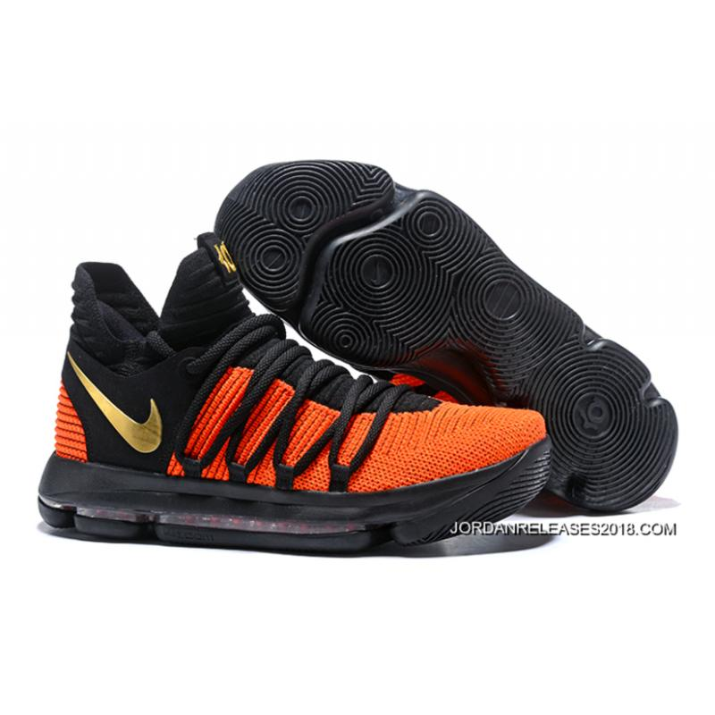 "Nike KD 10 ""China Exclusive"" Black Orange Gold 2018 Super Deals ... e24c51de8"