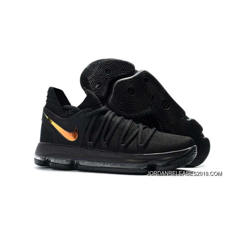"Nike KD 10 ""PK80″ Black/Metallic Gold Latest ..."
