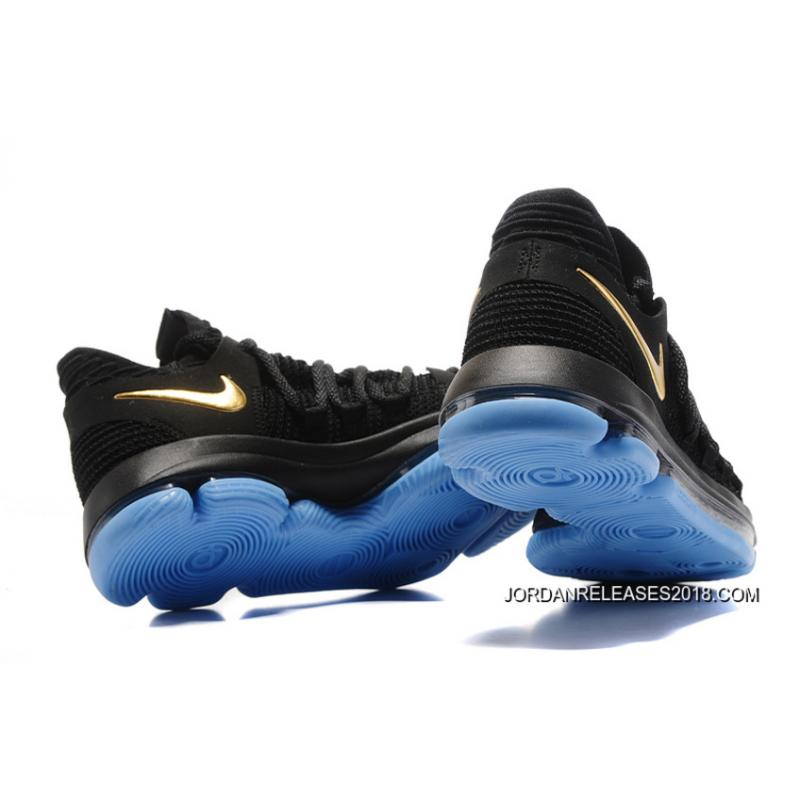 d2c2ff9f24f ... 2018 Latest Nike KD 10 Black Gold Blue ...