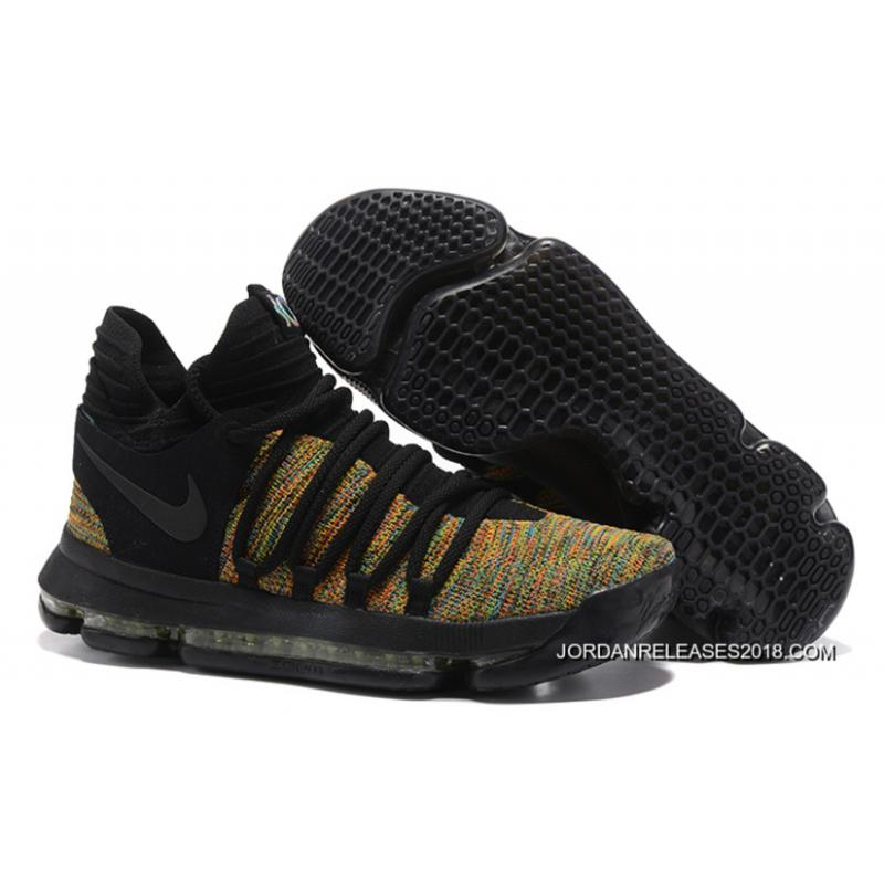 2018 New Year Deals Nike KD 10 Black Multi-Color ...