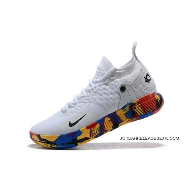 "Where To Buy Nike KD 11 ""NCAA March Madness"" White Multi-Color ... f946e9774"