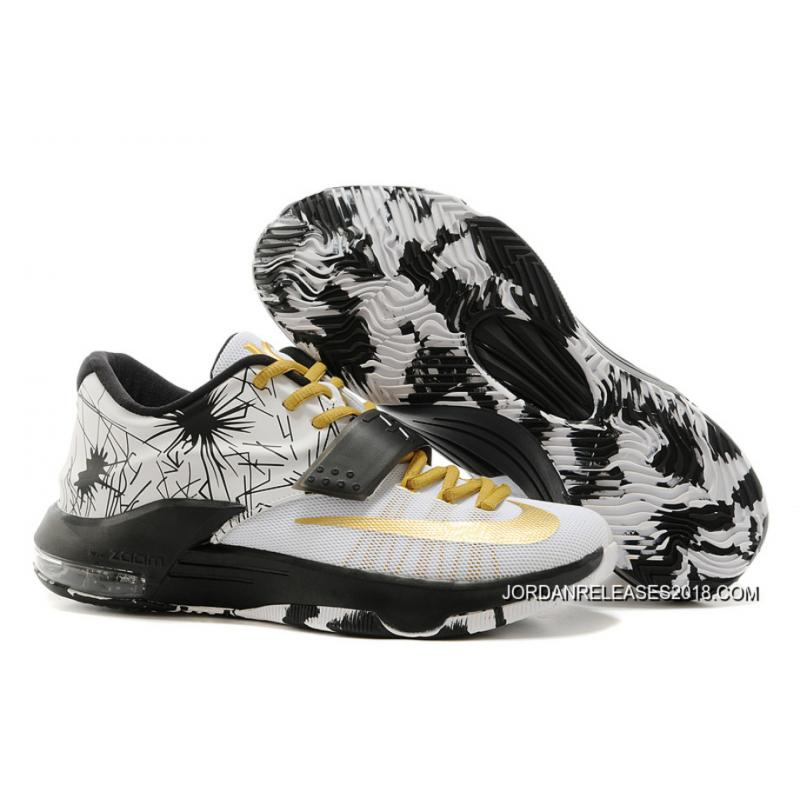 "best service 0e1fa 88c7a 2018 Discount Nike Kevin Durant KD 7 VII ""Patterns"" White-Black Metallic ..."