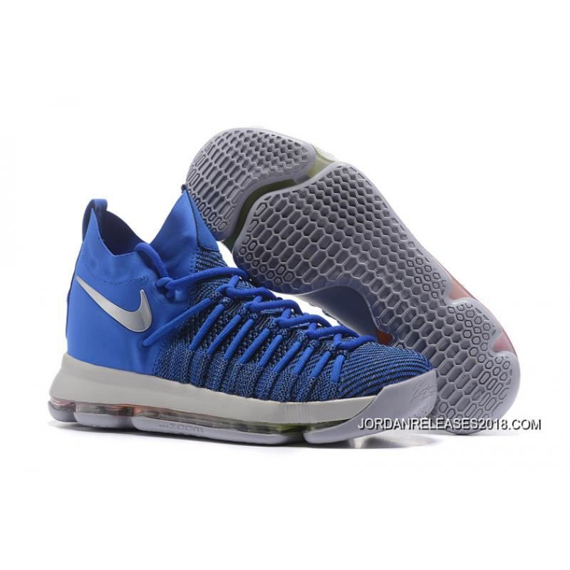 Nike Air Special Zoom KD 9 Elite Game Royal Silver Basketball Shoes