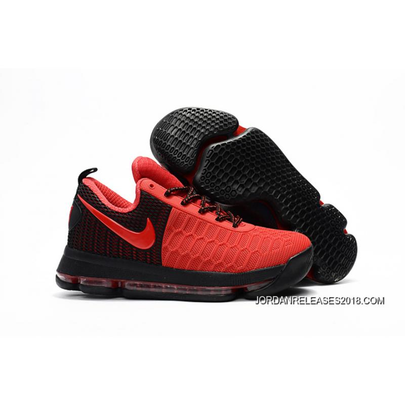 2018 New Style Nike KD 9 Red Black Basketball Shoes ...