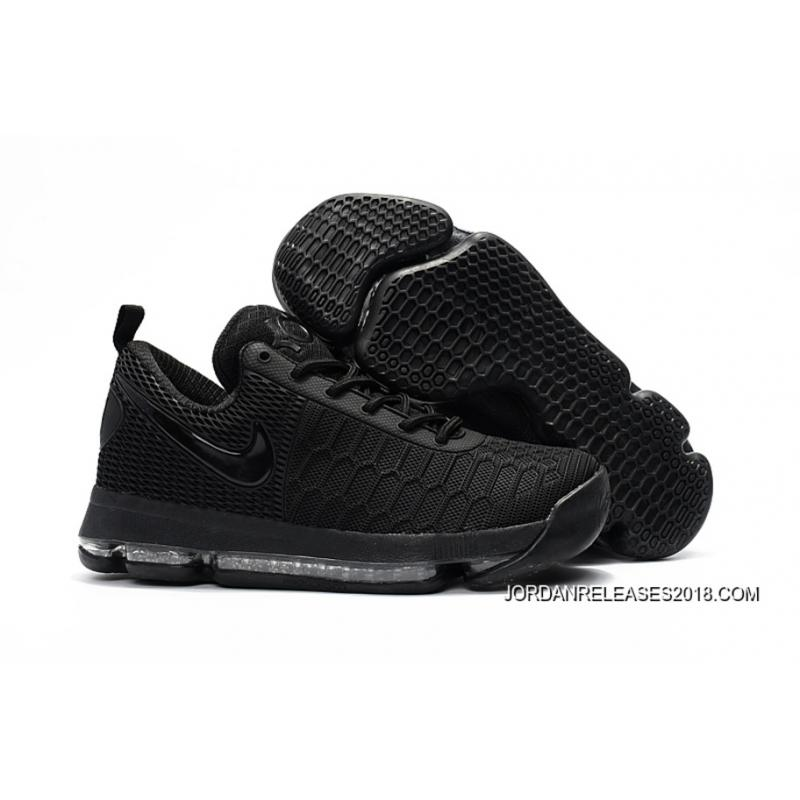 on sale ac36c a3077 Nike KD 9 All Black Basketball Shoes 2018 New Style ...
