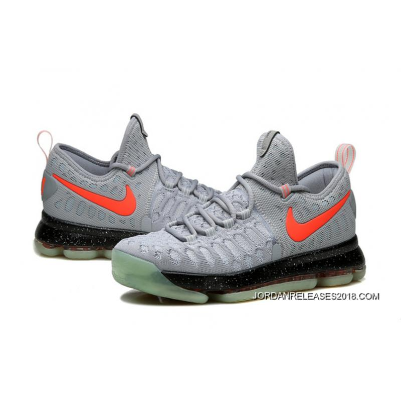 ... 2018 Online Nike KD 9 Limited Edition Gray Black Red Fluorescence ...