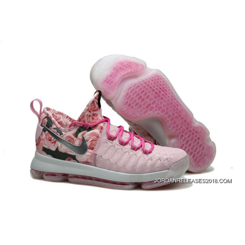 check out fc3d3 b21bd Latest Nike KD 9 Pink Black Aunt Pearl Flora ...