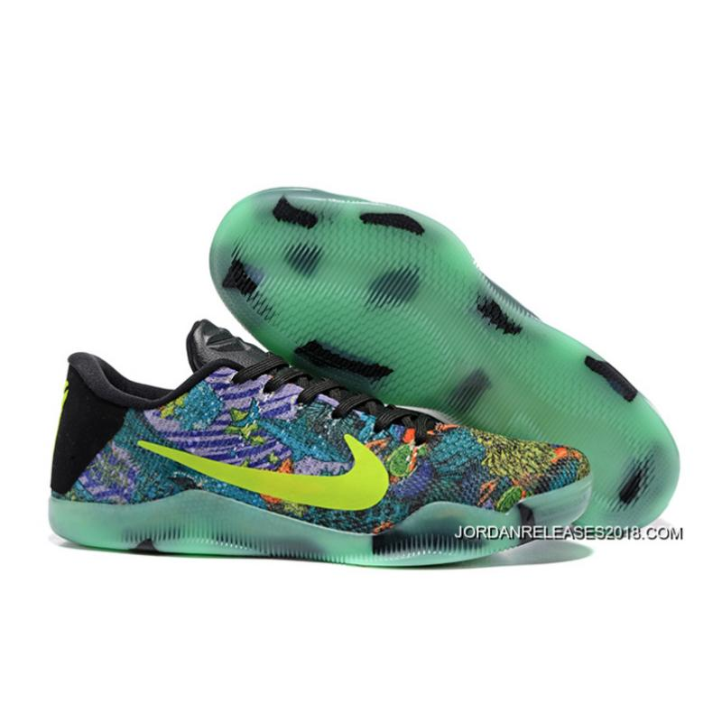 6060b4e22969 2018 New Release Nike Kobe 11 Master Colorful Glow In The Dark Mens Basketball  Shoes ...