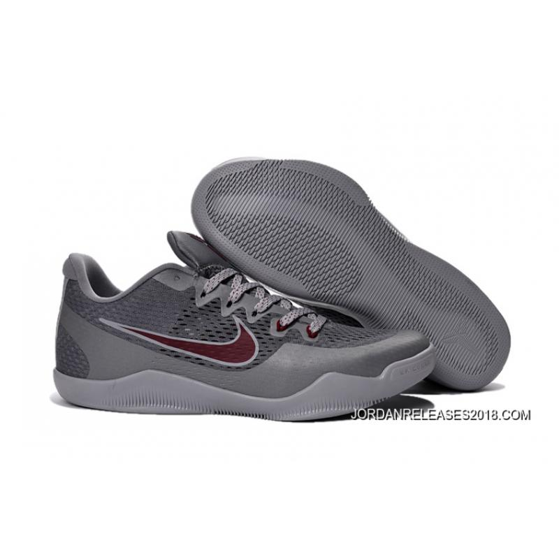 """4736e2306a6ea8 2018 Online Nike Kobe 11 """"Aces"""" Cool Grey Team Red-Wolf Grey ..."""