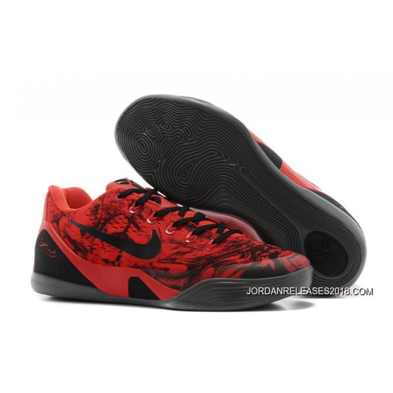 online store b3d5a 5f249 2018 Discount Nike Kobe 9 Low EM XDR Red Black Online, Price: $87.75 ...