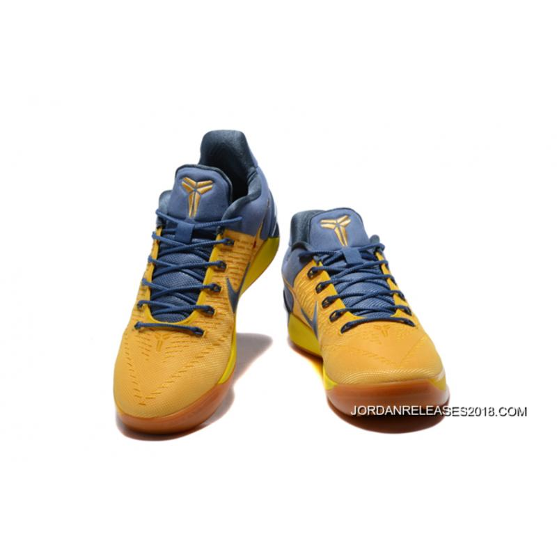 """newest collection 06a5a d8e56 ... 2018 New Style Nike Kobe A.D. """"Bruce Lee"""" Yellow Navy Blue ..."""